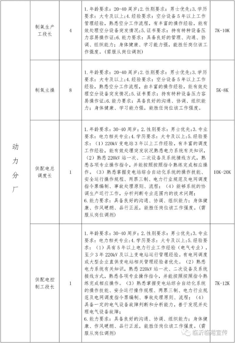 2021山东临沂临港联合钢铁招聘167人公告  第4张