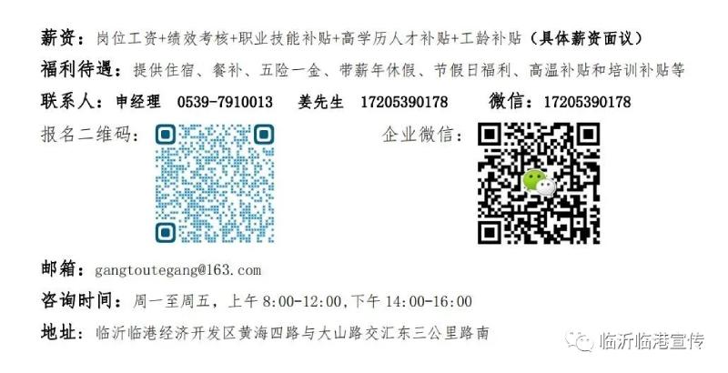 2021山东临沂临港联合钢铁招聘167人公告  第7张