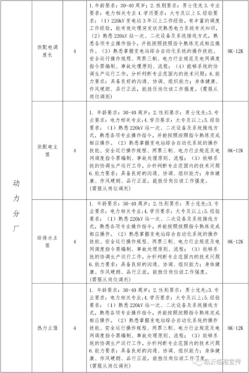 2021山东临沂临港联合钢铁招聘167人  第5张